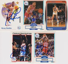 Philadelphia 76ers Signed Lot of (5) Trading Cards - Hawkins, Dawkins, G... - $9.99