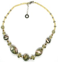 NECKLACE ANTIQUE MURRINA VENICE CO998A32, BRIGHT, LONG 44 CM, GREEN PINK AMBER image 2