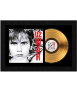 """War"" by U2 - 17 x 26 Framed 24kt Gold Album with Album Cover  - $198.95"