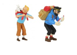 Tintin and Captain Haddock set of 2 plastic figurine