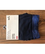 "UNIQLO MEN SUPIMA® COTTON BOXER BRIEFS NAVY Size ""Large"" - $9.89"