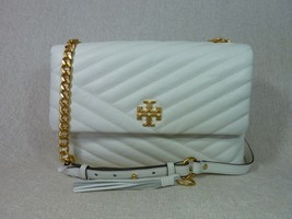 NWT Tory Burch New Ivory Kira Chevron Flap Shoulder Bag - $505.11