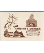 Vintage placemat THE CHIMNEY CORNER restaurant and map Red House Marylan... - $7.99