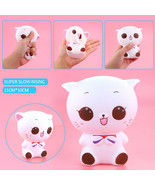 Squishy Kitty Cat Doll Slow Rising Soft Stress Reliever Kid Toy Phone Ch... - $5.90