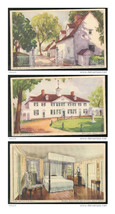 Mount Vernon VA 3 views from Dalrymple Mayfield watercolors Vintage 1934... - $5.99