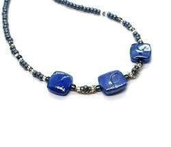 Necklace Antique Murrina Corner CO990A06 with Murano Glass Blue Choker image 2