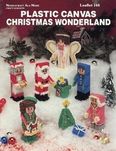 Christmas Wonderland Santa & Helpers Angel Plastic Canvas Pattern Leaflet - $2.67