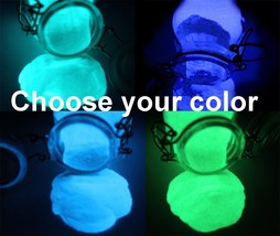 GLOW IN THE DARK PIGMENT POWDER 1 or 2oz GREEN, AQUA, BLUE, LILAC - $7.43+