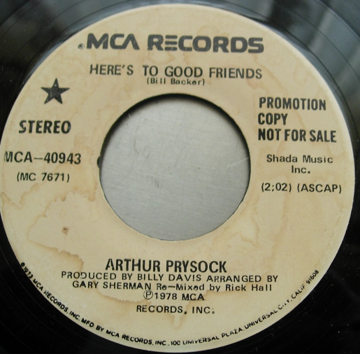 Arthur Prysock - Here's To Good Friends - MCA 40943 PROMO