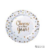New Year Dot Dinner Plates  - $15.36