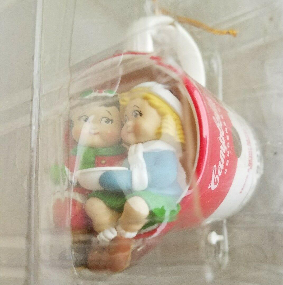 1999 Campbell's Soup Kids Christmas Ornament Millennium Mug