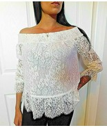 LOVE SHACK FANCY SMOCKED LACE TOP BLOUSE SIZE XS NWT $298 - $59.39