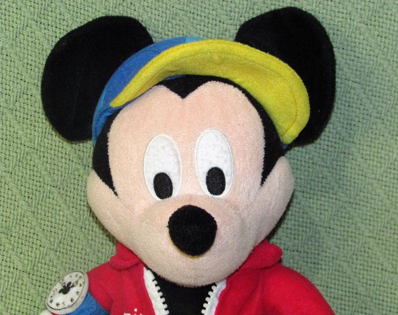 "Learn To Dress TALKING MICKEY MOUSE 15"" Plush Stuffed Doll DISNEY Tie Zip Lace++ image 2"