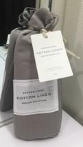 Restoration Hardware Stonewashed Cotton Linen Standard Sham (1) Fog NEW $79 - $37.99