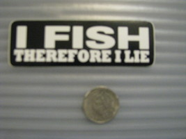 Hand made Decal sticker I Fish Therefore I Lie Fishing Tackel Box - $19.98