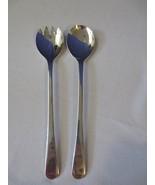 Vtg Silver Plate Sheffield England Salad Serving Set Fork Spoon - $10.00
