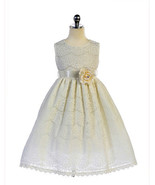 Gorgeous Ivory Lace Pageant Flower Girl Party Dress Crayon Kids USA - $54.99