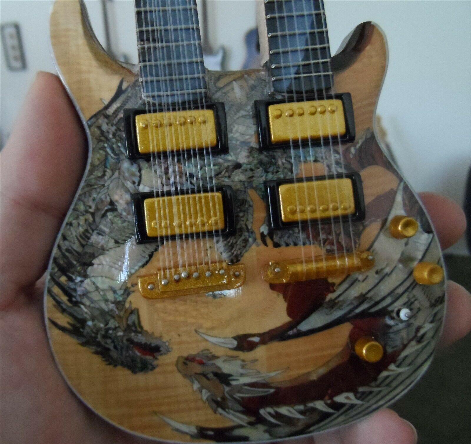 Santana - Prs Dragon Jaune Double Col Sig Custom 1:4 Échelle Réplique Guitare ~ image 3