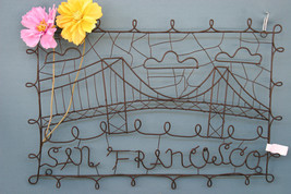 POTTERY BARN SAN FRANCISCO WIRE CITY ART - NIB - GIVE YOUR WALL FLOWER P... - $32.47