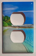 Blue Tropical beach ocean Light Switch Power Outlet Wall Cover Plate Home decor image 4