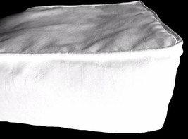 White Box Cushion Cover Solid Polyester With Piping & Zipper - $9.90+