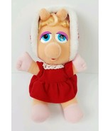 Vintage 1987 McDonalds Baby Miss Piggy Muppet Plush Christmas Doll Toy Xmas - $12.62