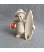 Lenox Snowman Holiday Figurine Surfboard Beach Ball August 12 Months of ... - $28.00