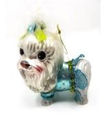 Ornament Christmas Holidays Maltese Dog Porcelain NWT - $20.00