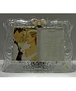 . Gorham Crystal Wedding Sentimental Traditions Invitation Photo Frame  - $29.99