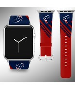 Houston Texans Apple Watch Band 38 40 42 44 mm Fabric Leather Strap 2 - $29.97