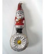 Bethany Lowe German Glass Xmas Ornament Antique Design Santa on indent B... - $34.64