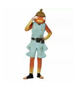 Fortnite Fishstick Halloween Costume Kids Child Jumpsuit Mask 14-16 Extr... - $79.99