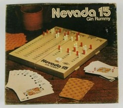 Nevada 15 Gin Rummy Game and Scoring Board 1975 E.S. Lowe Vintage  - $28.04