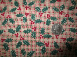 """3009. Fabric Traditions HOLLY  Craft, Quilting COTTON FABRIC - 44"""" x 2 1... - $12.00"""