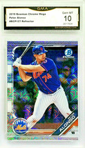 Hot! Gem 10 Pete Alonso Rookie Mega Box Refractor 2019 Bowman Chrome #BCP127 - $279.95