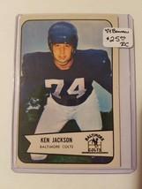 1954 Bowman #82 Ken Jackson SP RC  : Baltimore Colts - $16.10