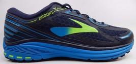 Brooks Aduro 5 Men's Running Shoes Size US 9 M (D) EU 42.5 Navy Blue / Green