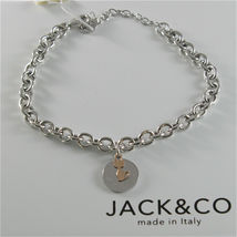 Silver Bracelet 925 Jack&co Jersey Shaped Rings and Pendant Gold Pink 9 Carats image 3