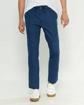 Onia Linen-Blend Collin Drawstring Pants Size Large Blue - $128.24
