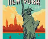"36"" X 44"" Panel Lady Liberty Statue of Liberty New York Cotton Fabric D782.61"