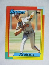 Joe Hesketh Atlanta Braves 1990 Topps Baseball Card 40 T - $0.98