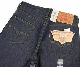 Levi's Men's Shrink To Fit Straight Leg Jeans Button Fly Indigo 501-0000 image 6