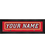 """Personalized Calgary Flames Stitched Team Jersey 8"""" x 24"""" Framed Print - $38.50"""