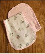 Girls Baby Bear 2 Burp Cloth Set - $16.00