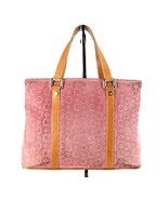 Auth CELINE Paris Pink Suede Leather Tote Hand Bag Double Chamber Bag CE... - $137.61