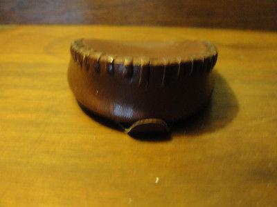 original Leather handmade flip open vintage coin wallet, folding, unisex
