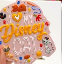 Disney World I Love My Disney Cat Magnet, NEW - $15.95