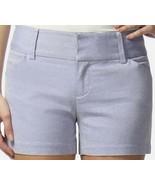 Daisy Fuentes Womens GetAway Get Away City Blue Dyed Yarn Shorts 4 6 - $24.99