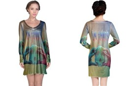 Long Sleeve Nightdress 1 in flames 2 - $23.99+