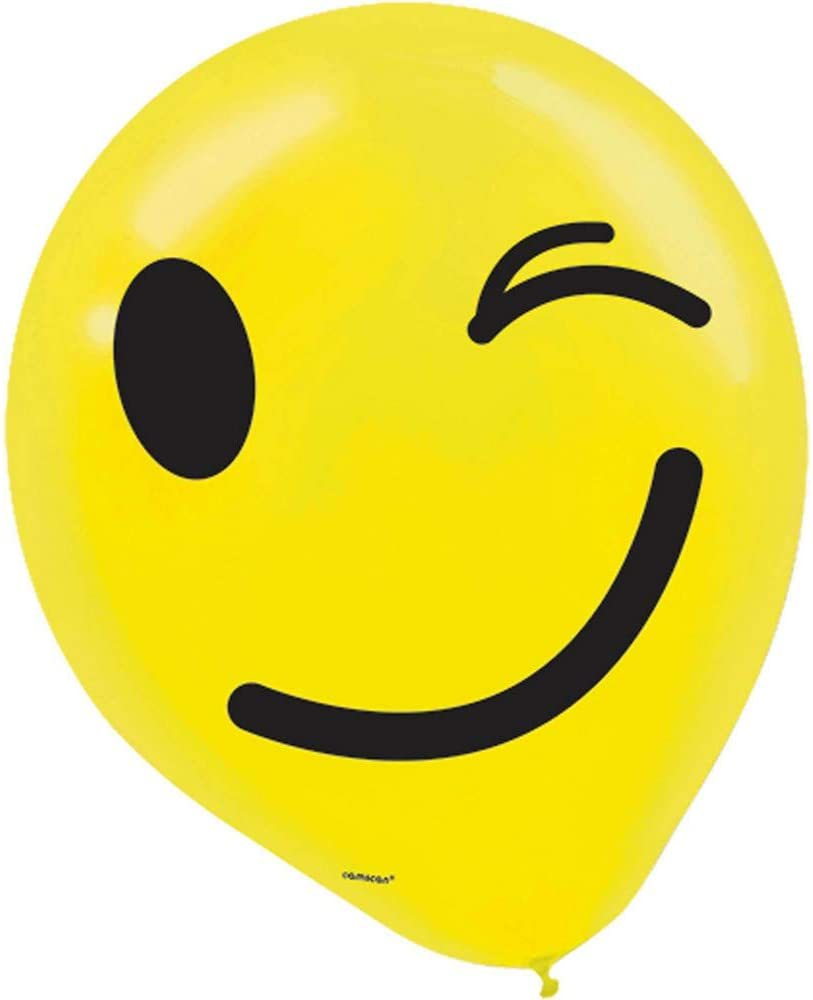 "Primary image for LOL Emoji Emoticons Cute Kids Birthday Party Decoration 12"" Latex Balloons"
